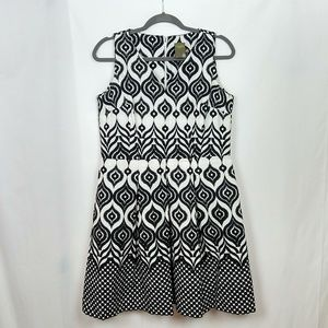 Taylor Cateye Knitted Fit and Flare Dress 12